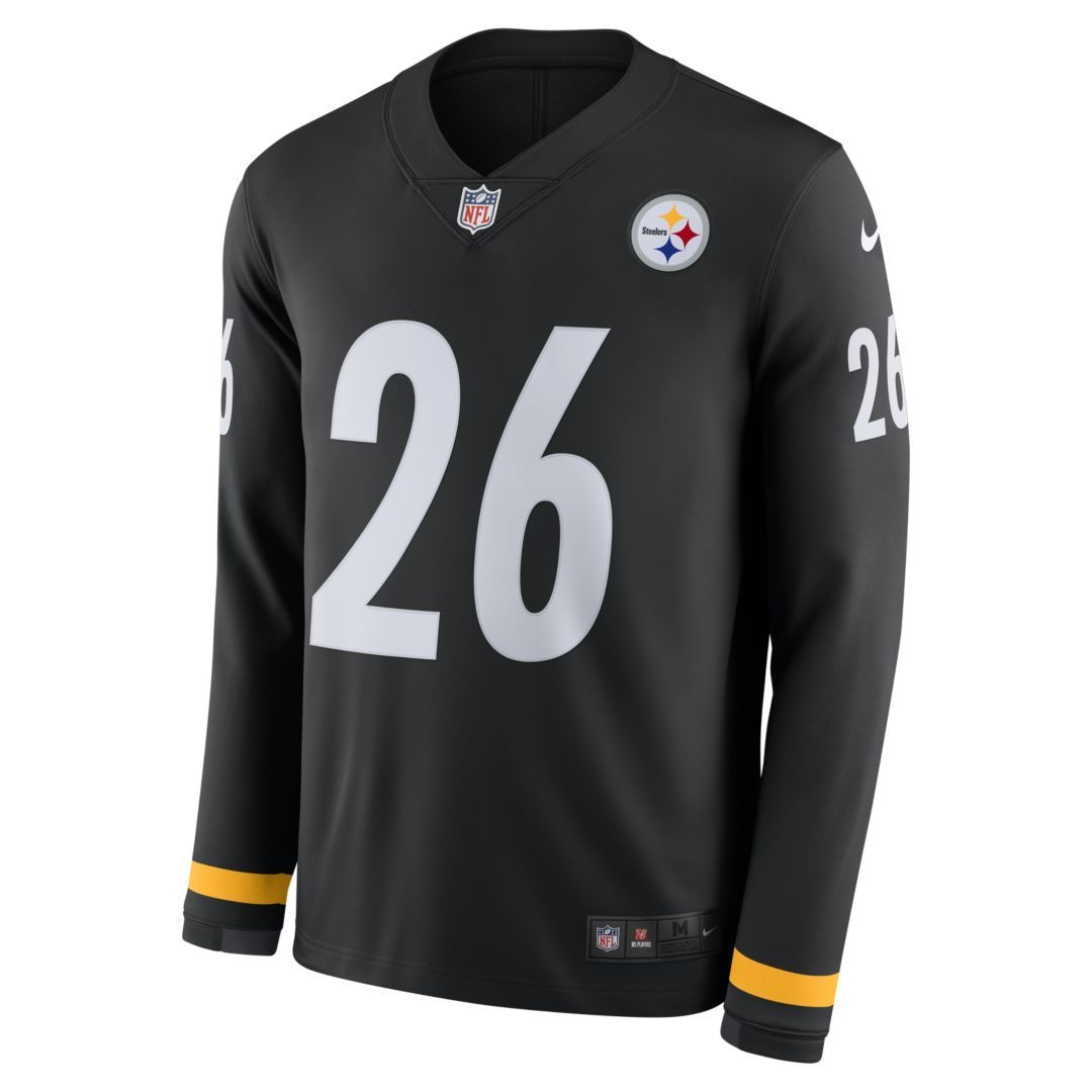 d3fe7ff303c NFL Pittsburgh Steelers Jersey (Le Veon Bell) Men s Long-Sleeve Football  Jersey Size 2XL (Black)