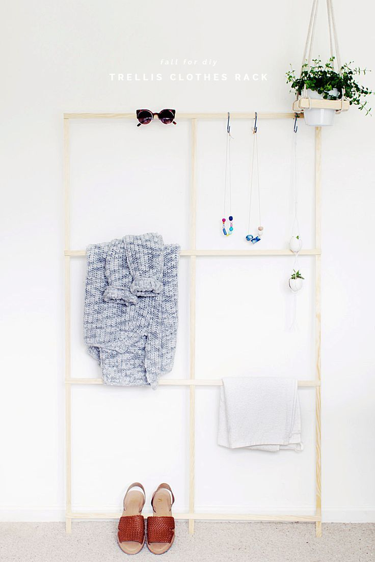 Diy trellis clothes racks diy trellis clothes racks and organizations