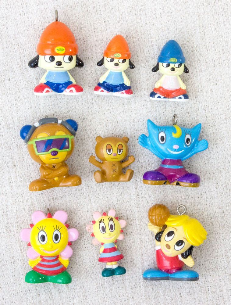 Set Of 9 Parappa The Rapper Mini Figure Sunny Funny Berri Katy JAPAN ANIME GAME