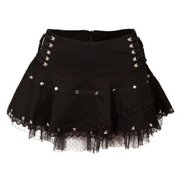 Jawbreaker Netted Studs Lace Mini Skirt (Black) ❤ liked on Polyvore featuring skirts, mini skirts, lace mini skirt, short skirts, lace skirt, lacy skirt and mini skirt