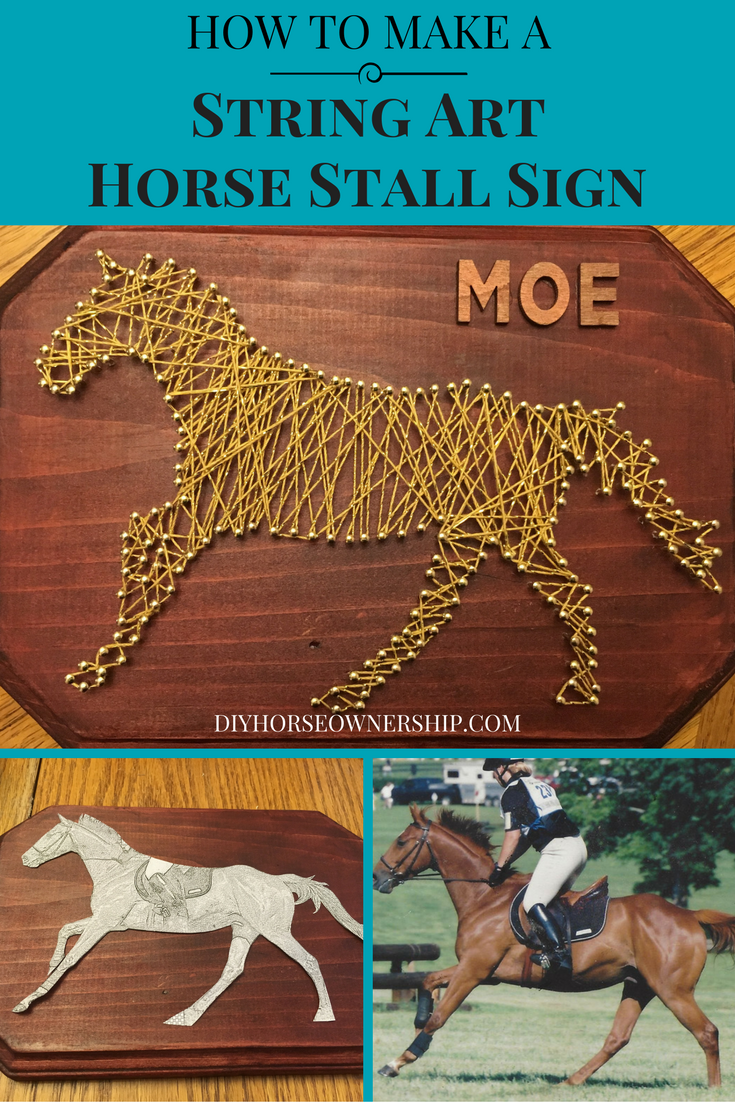 Diy how to make a string art horse stall sign do it yourself diy how to make a string art horse stall sign solutioingenieria Gallery