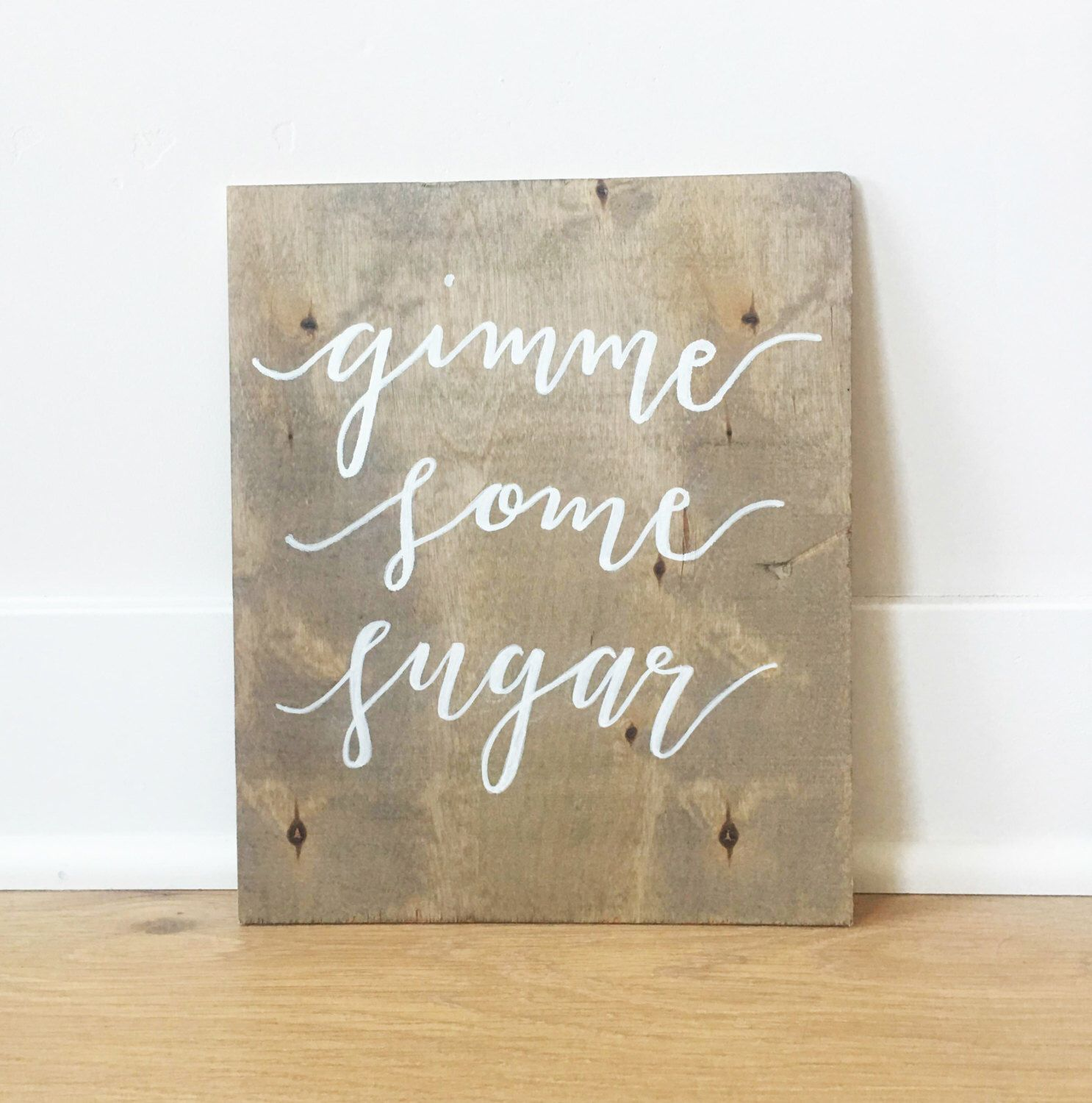 Gimme some sugar, wedding cake table sign https://www.etsy.com ...