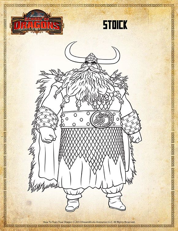 Color Stoick View How To Train Your Dragon Coloring Page How Train Your Dragon How To Train Your Dragon Dragon Coloring Page