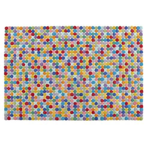 Multi Colored Polka Dot Wool Rug The Land Of Nod Add 8x10 Rug To