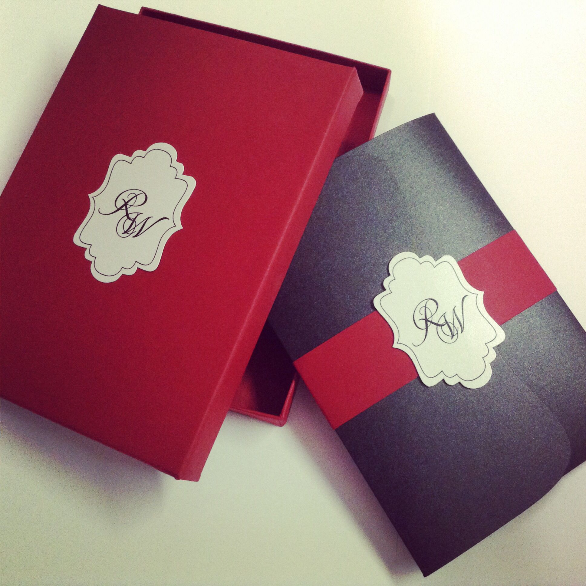 Savannah pocket invitation in red and black by www.sandispells.com ...