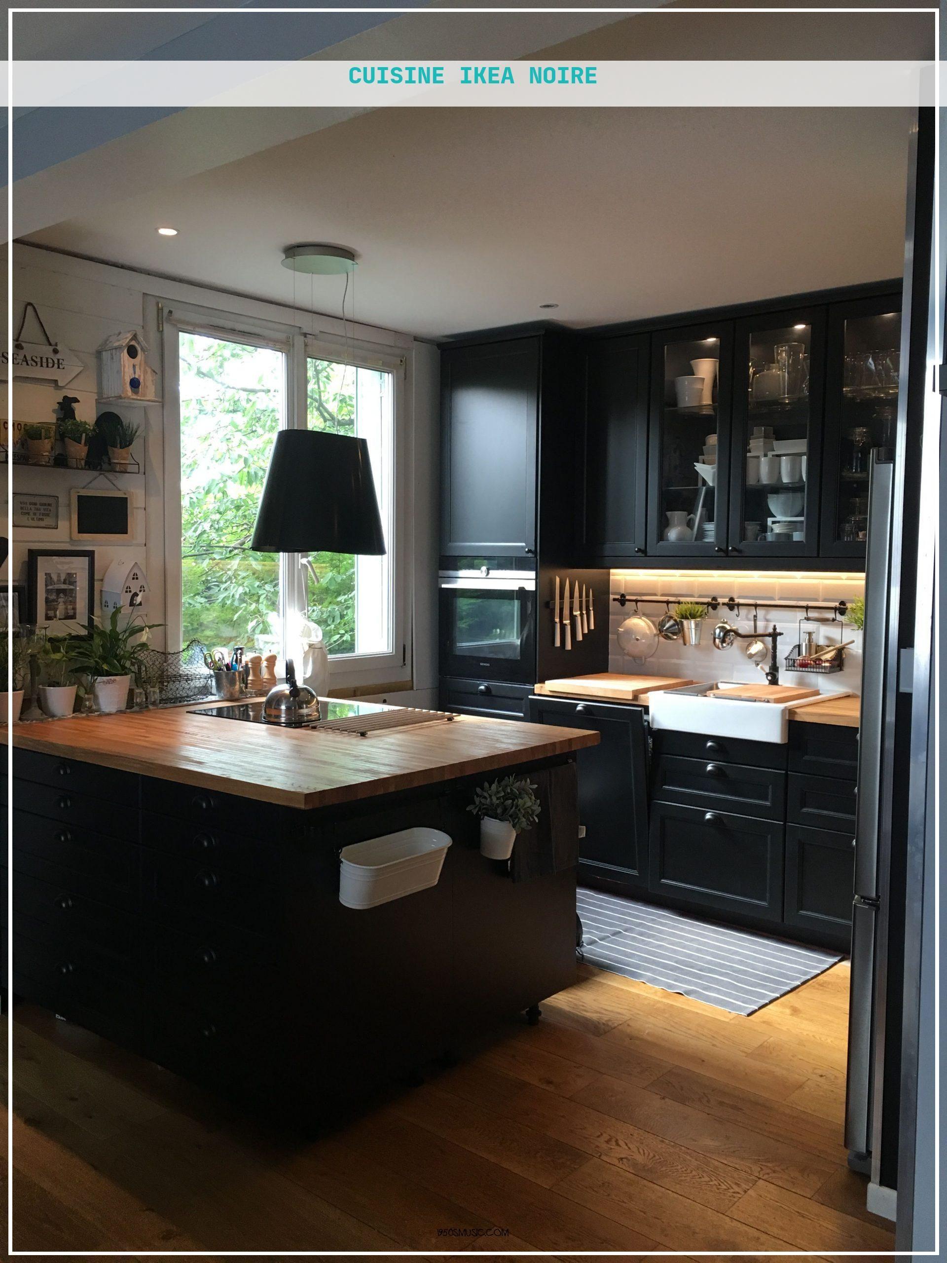 Cuisine Ikea Noire en 15  Cuisine ikea noire, Cuisine ikea