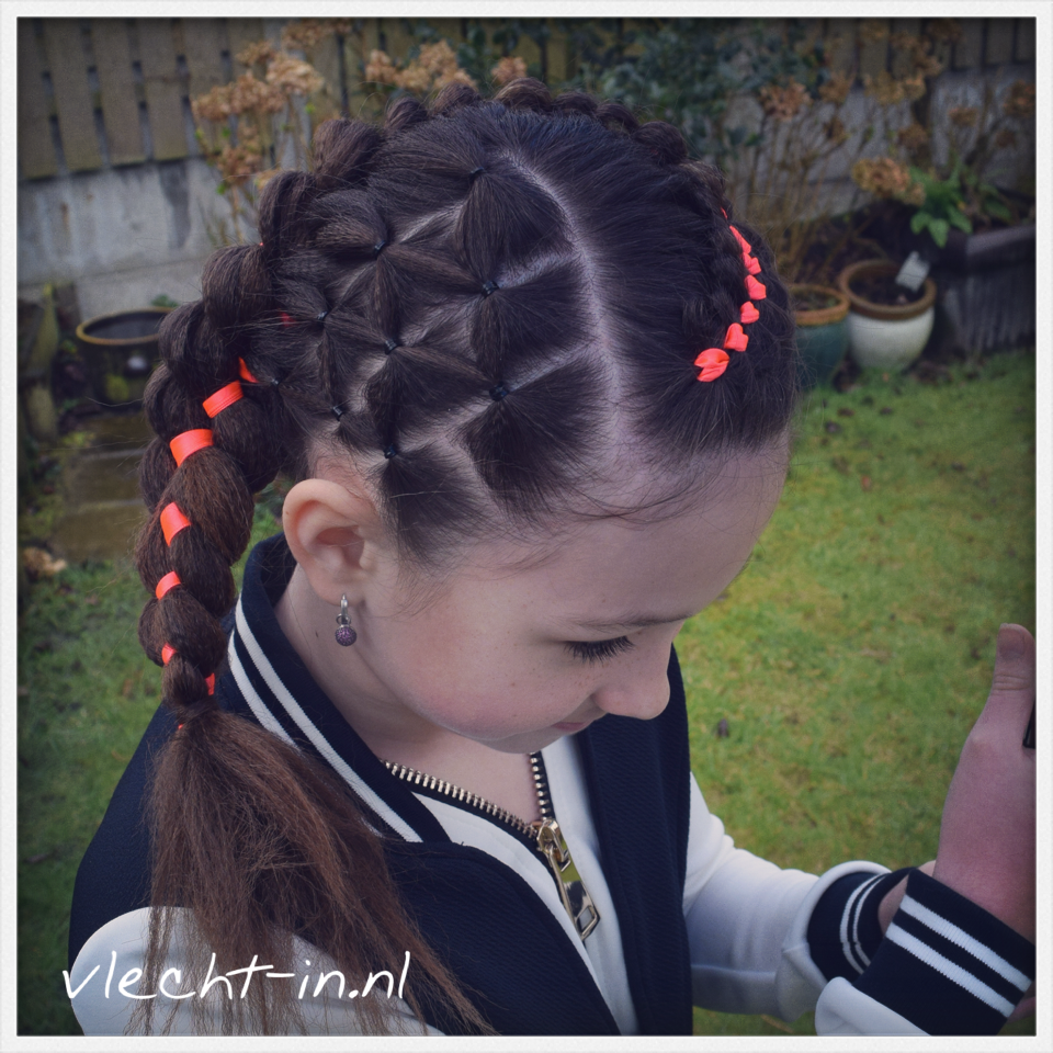Four strand braid with ribbon texture and elastics hairstyles i