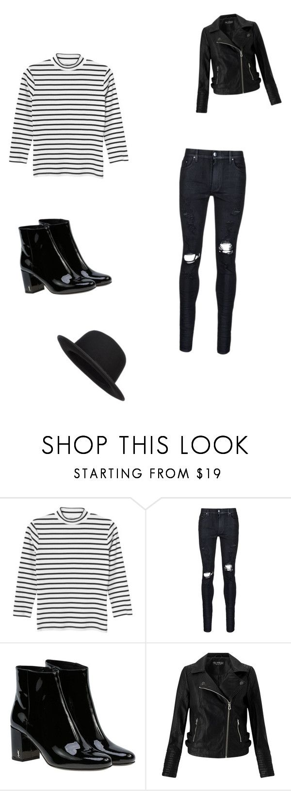 """Untitled #320"" by parisgirl000 ❤ liked on Polyvore featuring Monki, AMIRI, Yves Saint Laurent and Miss Selfridge"