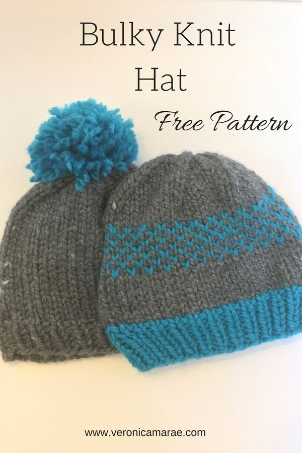 Simple Bulky Hat Knit Pattern   Knitted hats, Circular ...