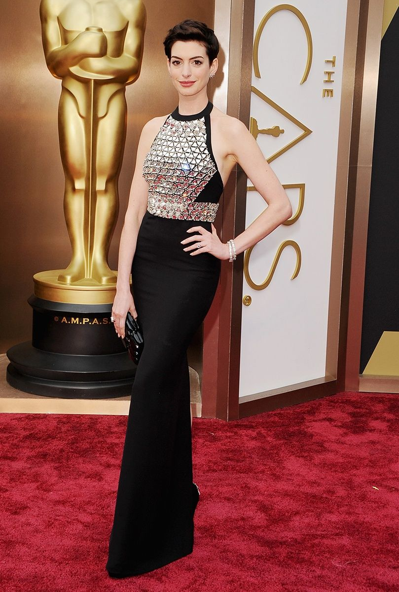 Oscars 2014 | #oscarfashion | Anne Hathaway in Gucci