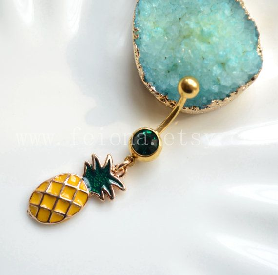 Pineapple Belly Button Ring Navel Piercing Friendship Belly Rings
