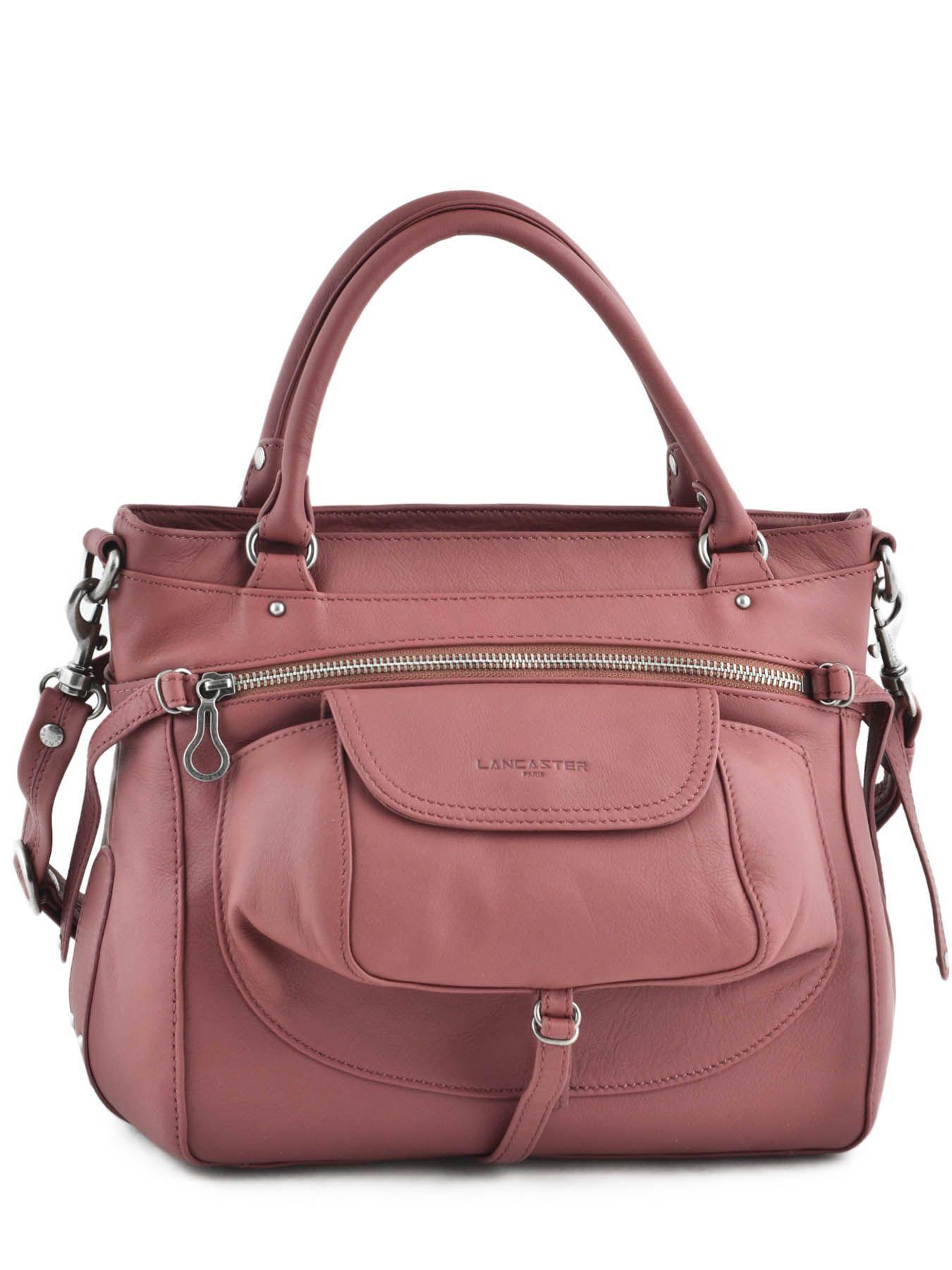 Cuir De Vachette C Est Quoi shopping/cabas soft vintage nova cuir lancaster rose soft