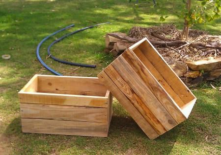 Recycled Pallet Crates Pallet Crafts Diy Wood Planters Pallet Diy