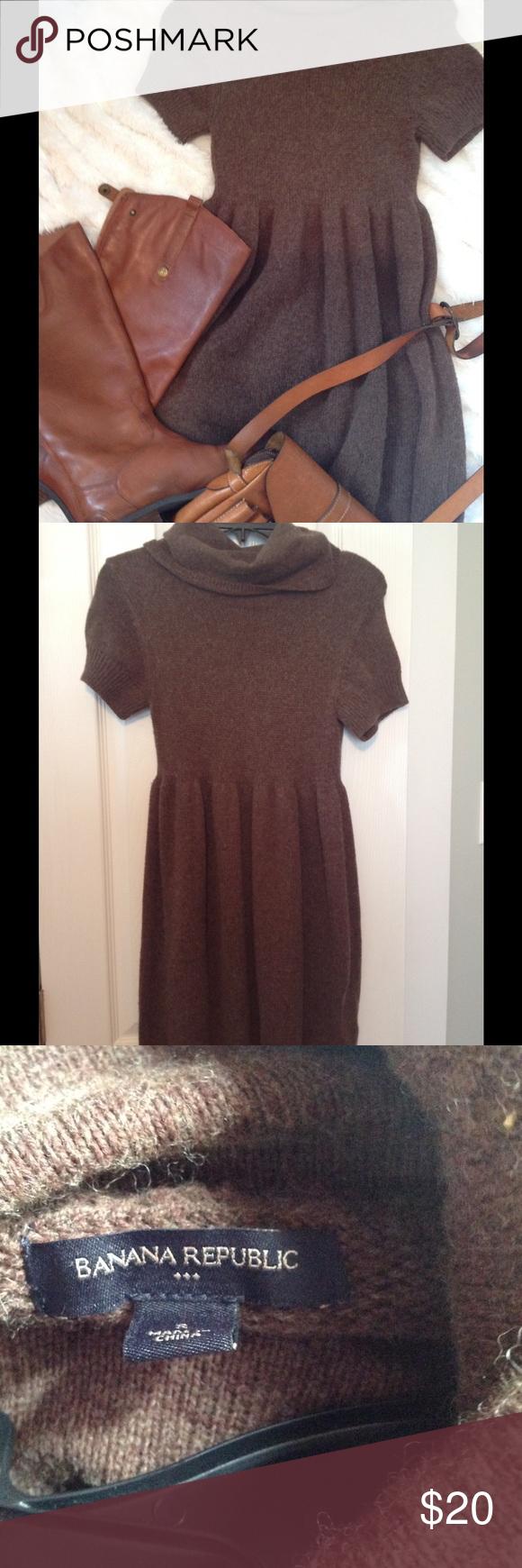 Banana Republic Sweater Dress Very cute brown knit sweater dress ...