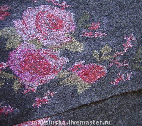 """Купить Юбка """"Шотландские розы"""" - нуновойлок, войлок, юбка, розы, килт, юбка с…"""