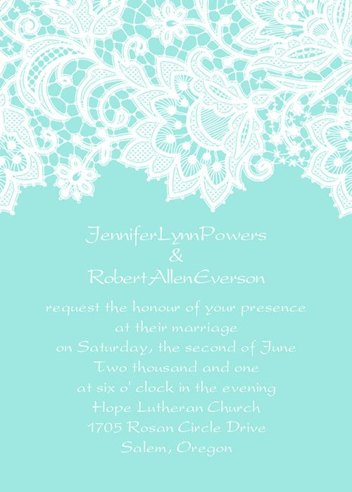 Simple Wedding Invitations Cheap as Low as 094 – Tiffany Blue and Red Wedding Invitations