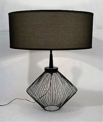 details about vintage mid century modern metal wired cage frame rh pinterest co uk