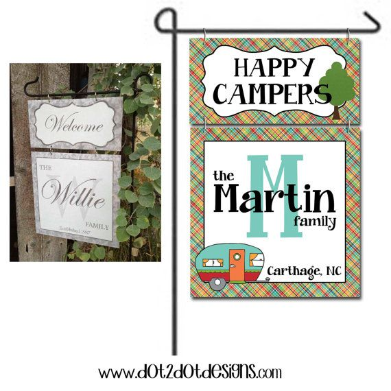 Personalized / Custom Garden / Yard Metal Flag / Sign - Outdoor ...