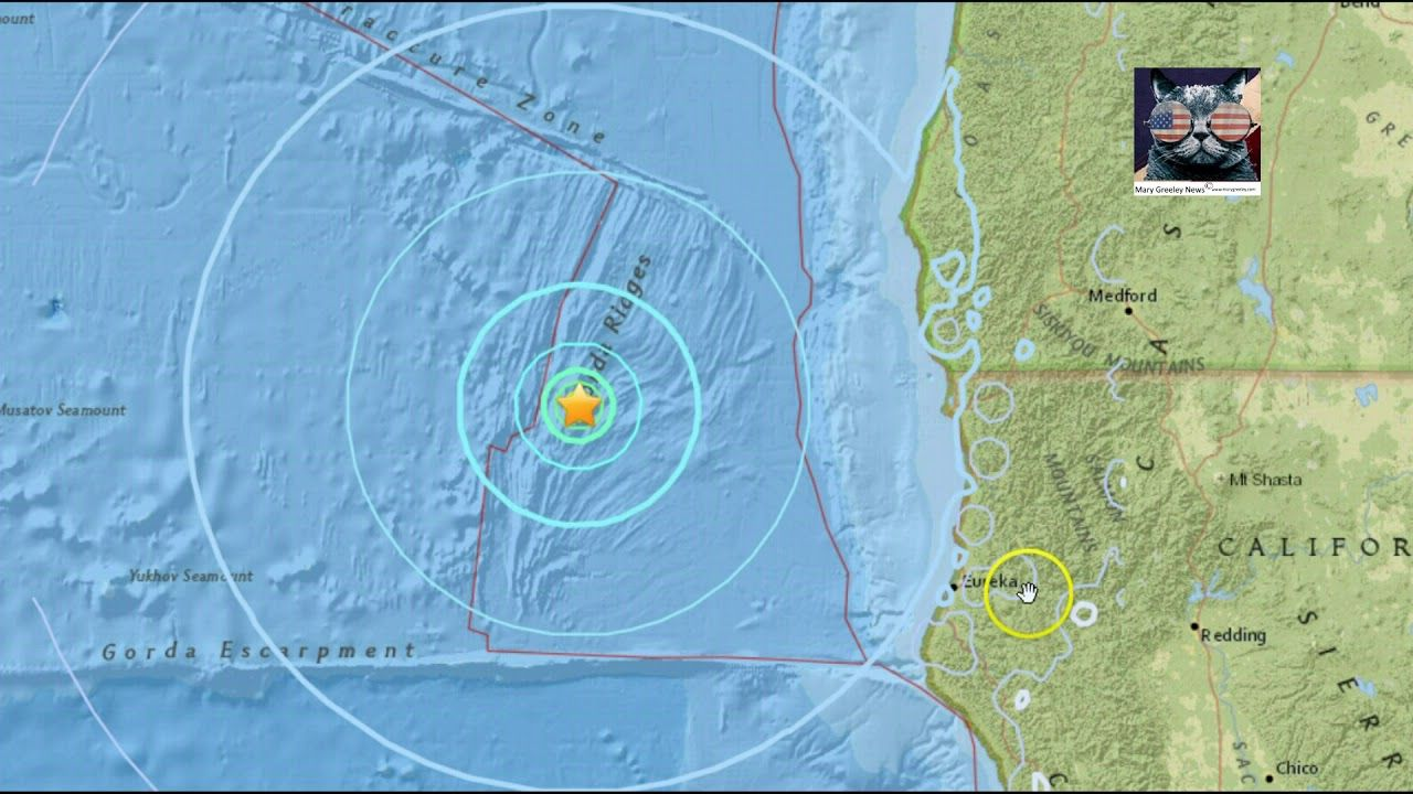 Alert Update M5 6 Earthquake Near Eureka California Gold Beach