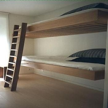 Floating Bunk Beds Modern boy s room Bunk beds