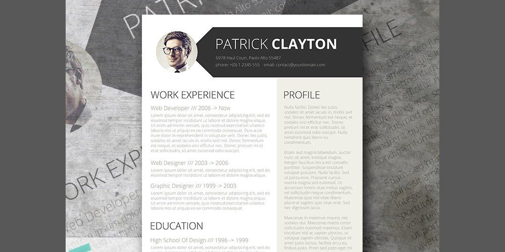 graphic design resume template%0A Free Professional Resume Template