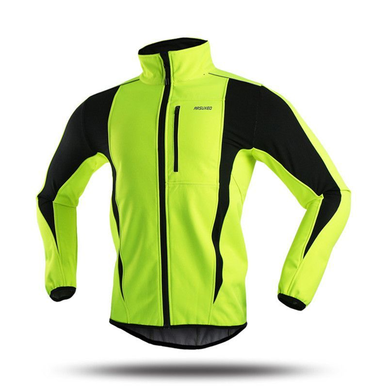 c52b5dfa9 ARSUXEO Thermal Sport Jacket Windproof Skiing Cycling Bike Bicycle Clothing  Reflective Rainproof Winter Cycling Jacket Men