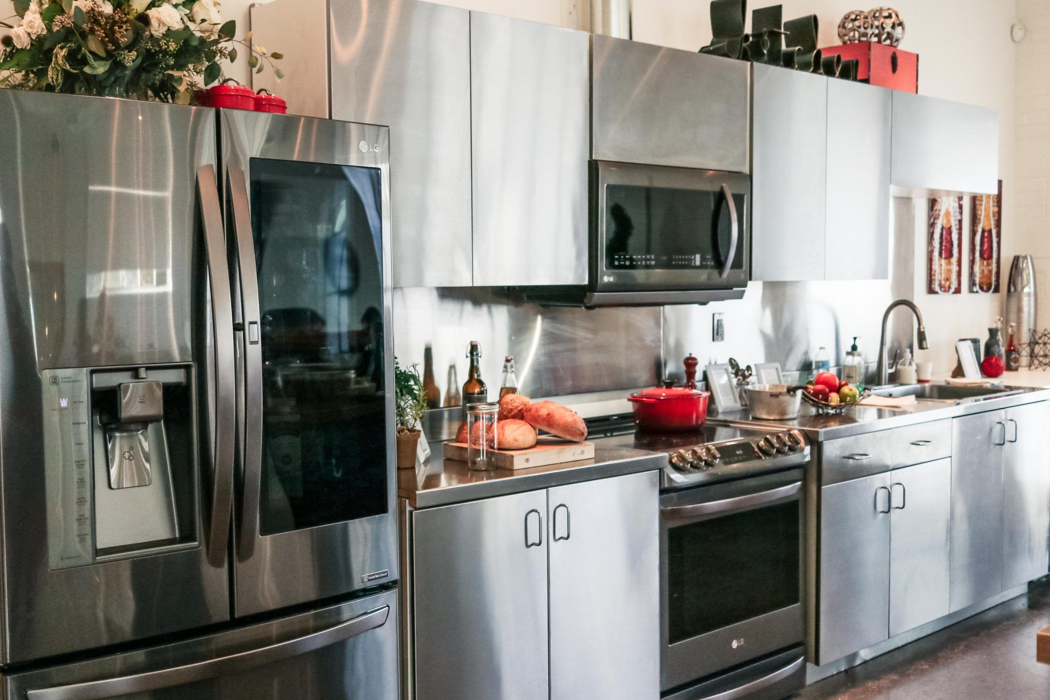 lg black stainless steel appliances line launch lg kitchen event rh pinterest ca