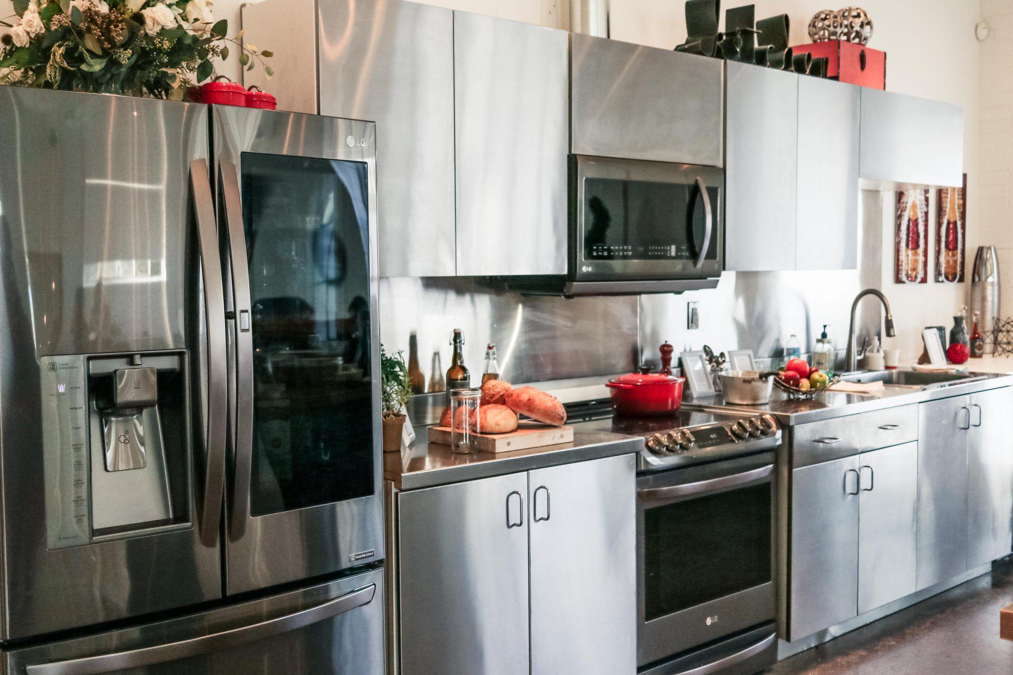 lg black stainless steel appliances line launch lg kitchen event stainless steel kitchen on kitchen appliances id=25630