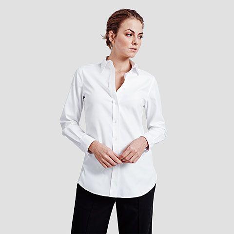 be55a646d42726 Grace Oxford Shirt. Grace Oxford Shirt Cotton Silk, Woven Fabric, Boyfriend  ...