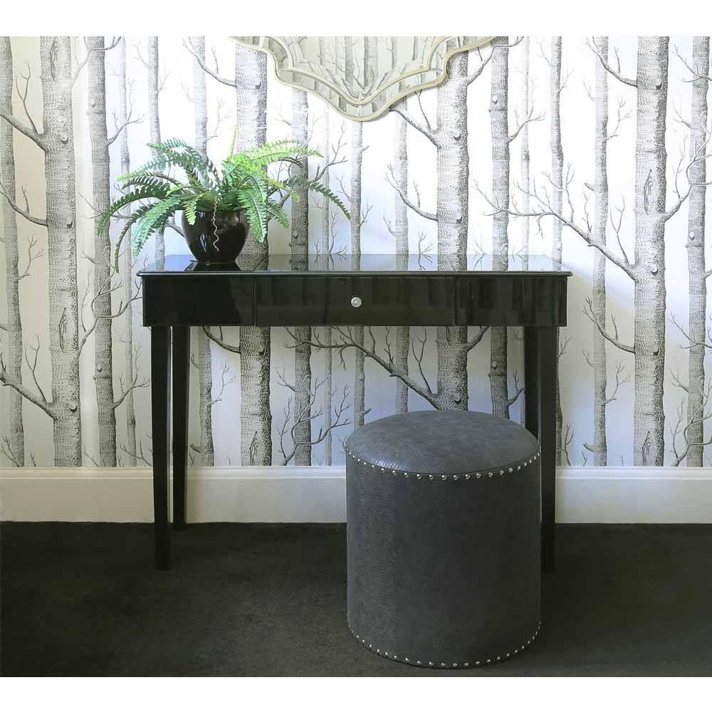 Surprising Chelsea Black Studded Stool Faux Leather Footstool New Evergreenethics Interior Chair Design Evergreenethicsorg