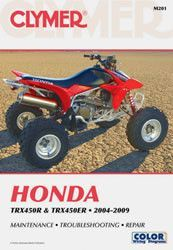 clymer m201 service repair manual for honda trx450r and trx450er rh pinterest com