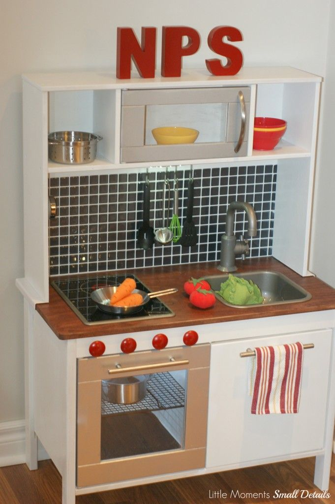 ikea play kitchen hack by little moments small details vivien rh pinterest com