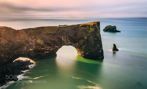 d y r h o l a e y by MarcoPetracci  EOS rebel t3i beach blue california clouds dyrholaey iceland landscape light long exposure night oce