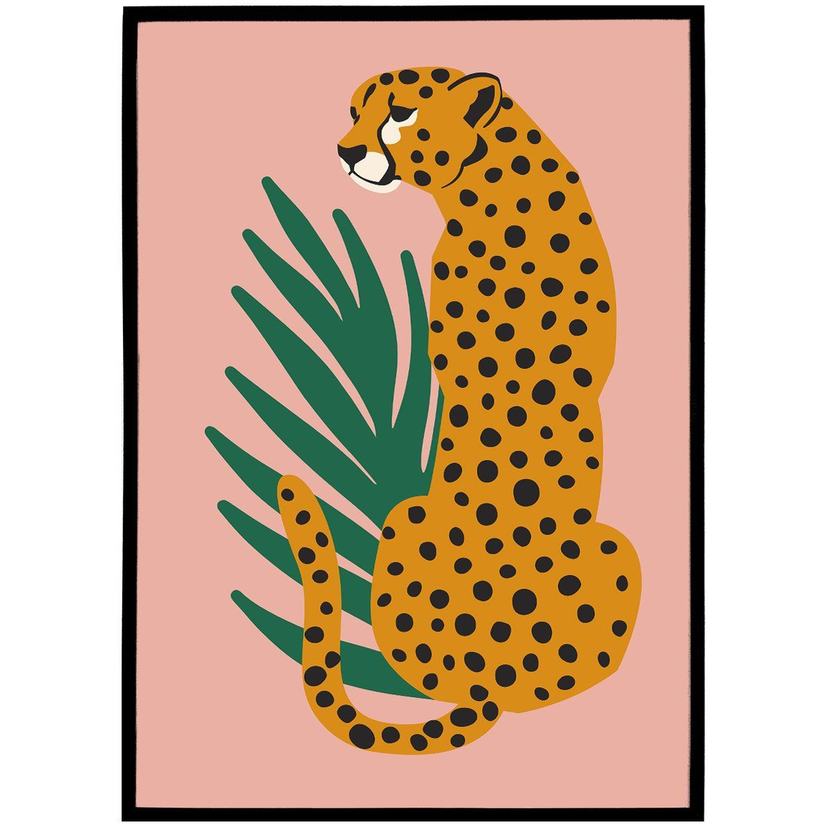 Cheetah Illustration Art Print