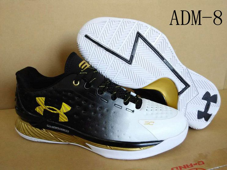 2018 New Authentic Under Armour Curry I One 1 Low UA MVP Black Gold White  Size d30147b4e875