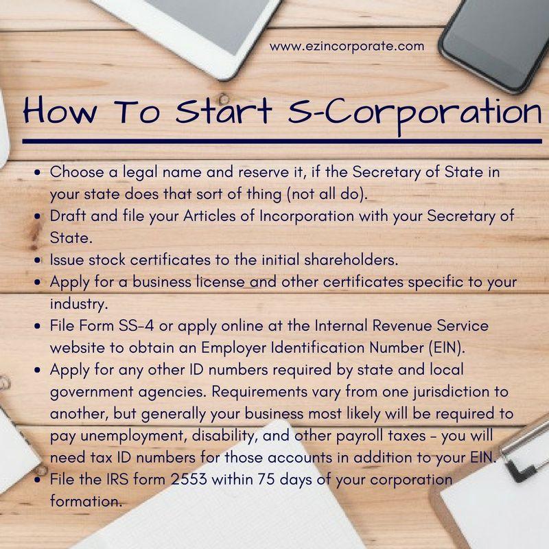 SCorporation Formation Services EZ Incorporate S