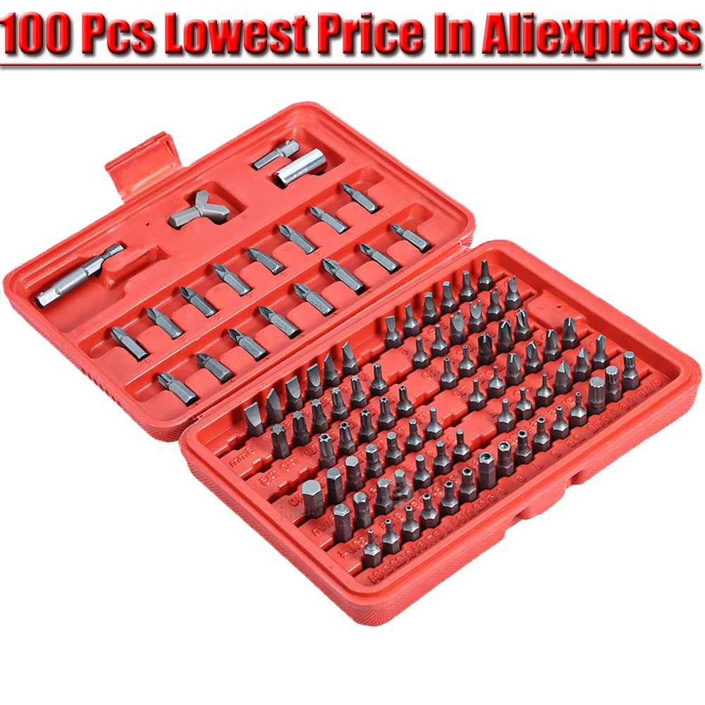 Tri Wing Schroevendraaier 100pcs Screwdriver Security Bit Set Torx Star Tamper Screws Hex