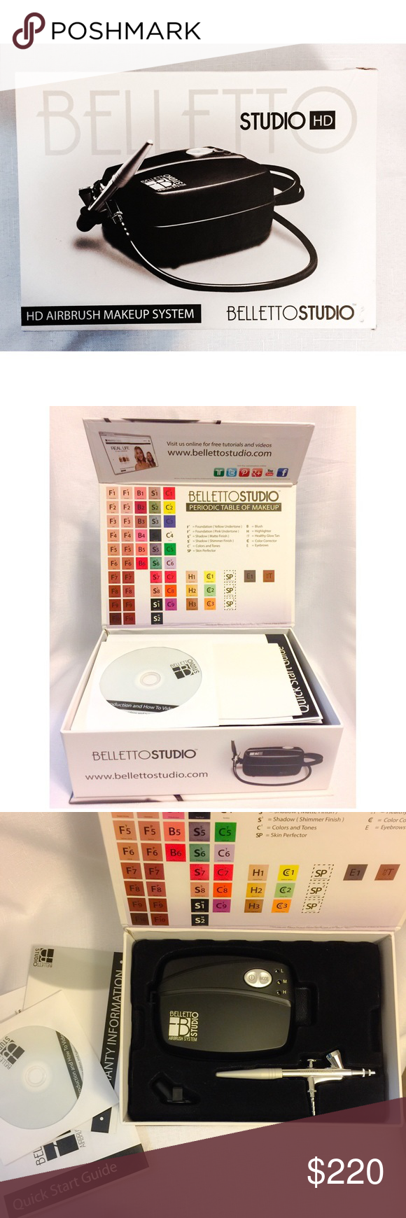 New Belletto Studio HD Airbrush Makeup System!! Airbrush