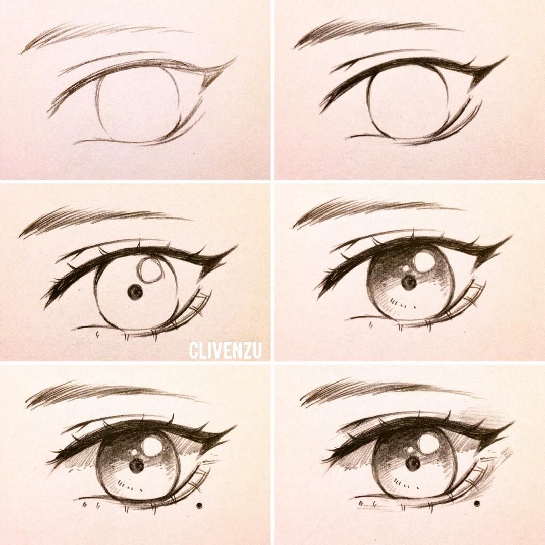 Very Simple Eye Tutorial You Guys Have Been Asking For So Long For A Tutorial So Here Ya Go From Left To Right Eye Drawing Eye Drawing Tutorials Anime Eyes