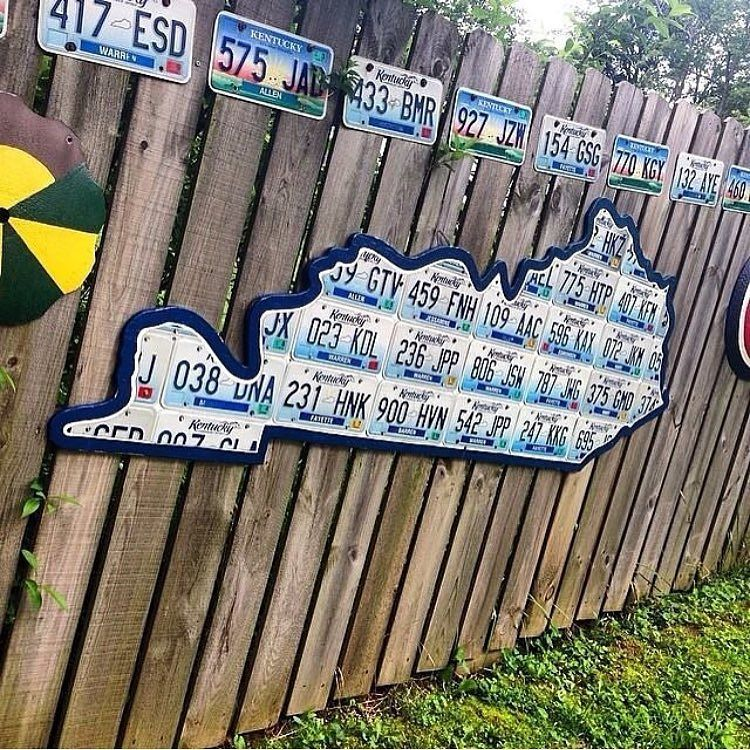 Kentucky Warren County fence art DriveKentucky by