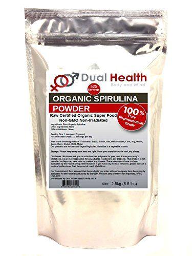 Pure Organic Spirulina 25kg 55 lbs Protein Powder USDA Chlorophyll ...