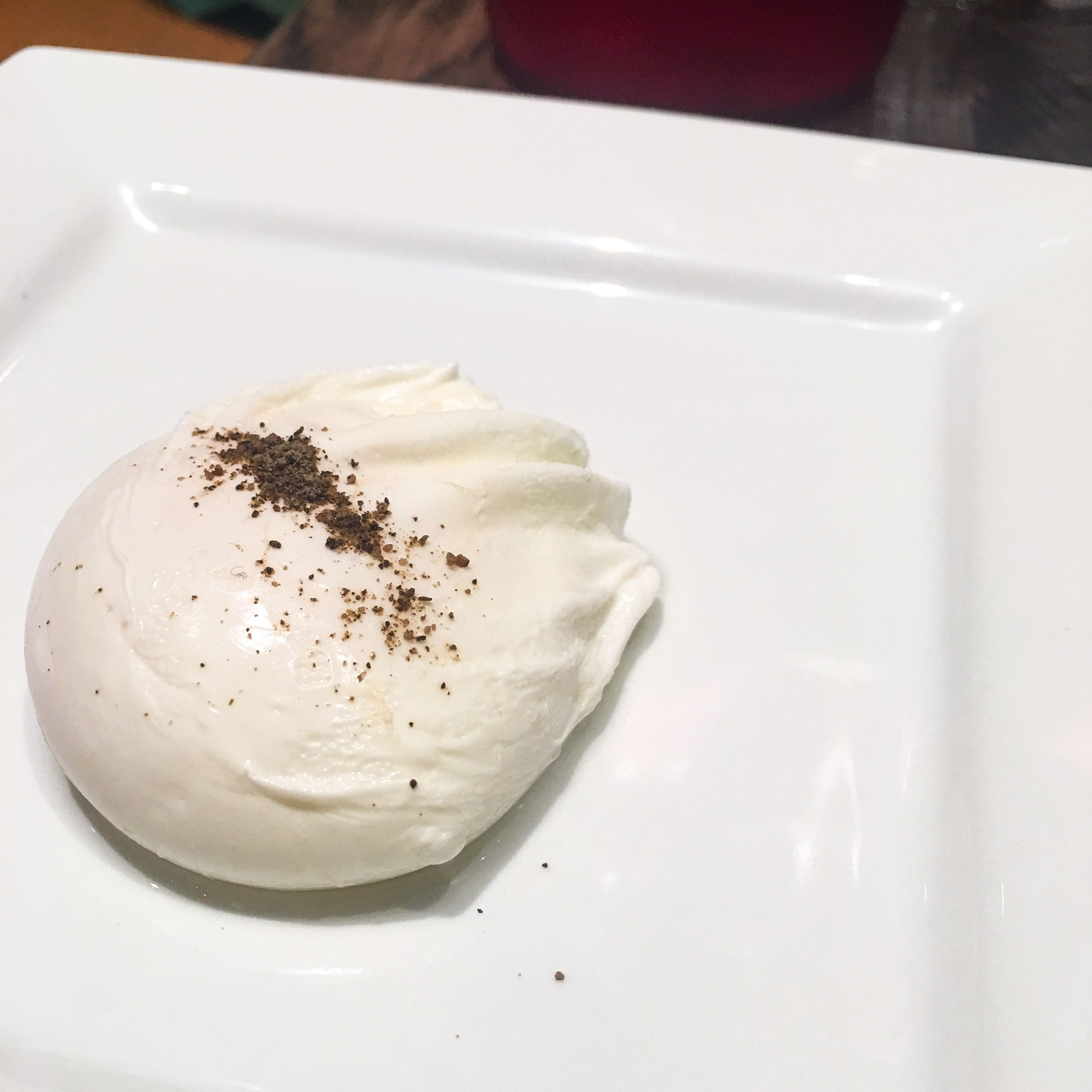 A poached egg from ascension coffee at the star in frisco