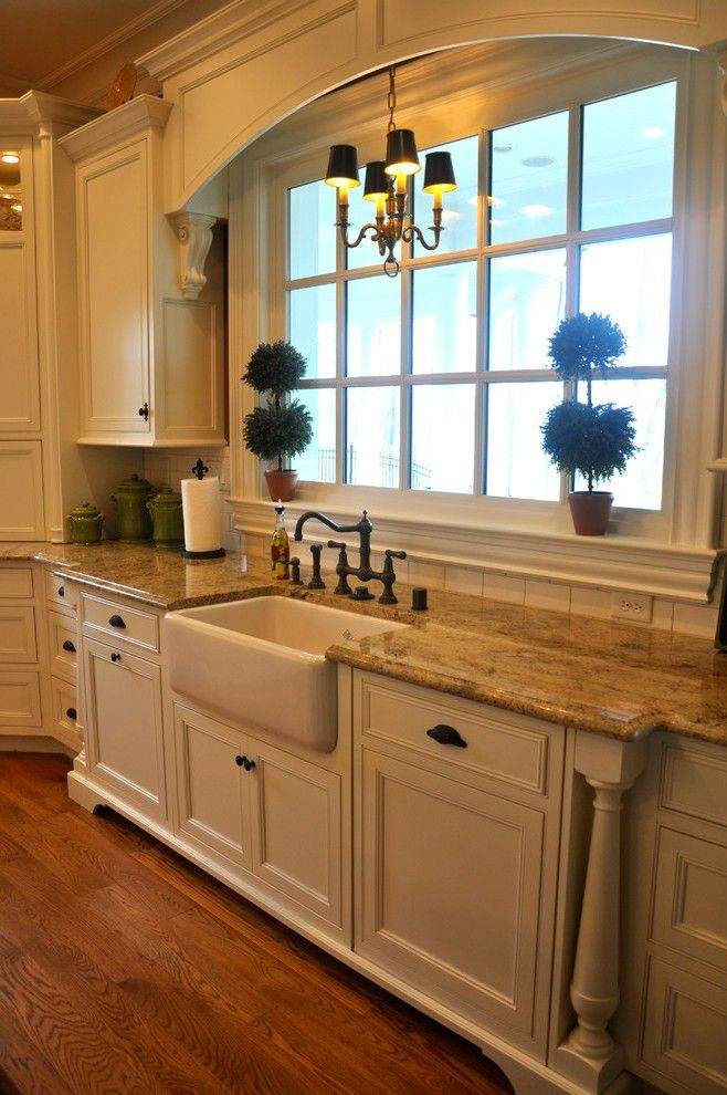 Over Kitchen Sink with Wood Countertops Eat
