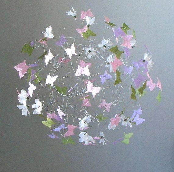 Childrens Bedroom Decor Mobile Butterflies By ButterflyOrbs, $74.00