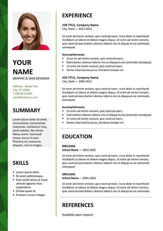 Dalston Free Resume Template Microsoft Word Green Layout Baixar Modelo De Curriculo Curriculo Word Modelo De Curriculo Pronto