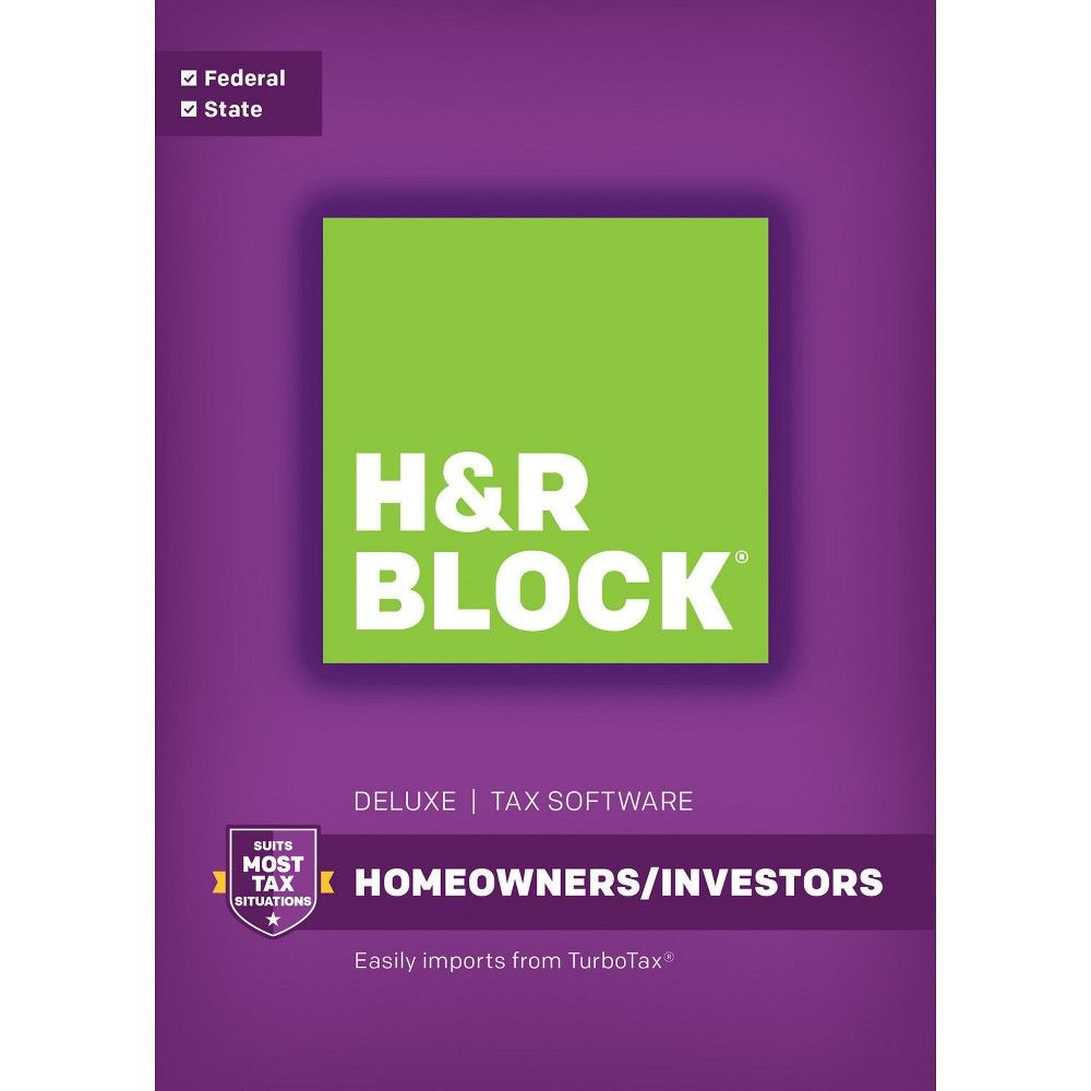 H&r Block Deluxe + State Tax Software for Windows Email