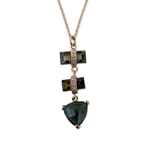 Jacquie Aiche Green Tourmaline & Diamond Pyramid Necklace gzU0YUjZg3