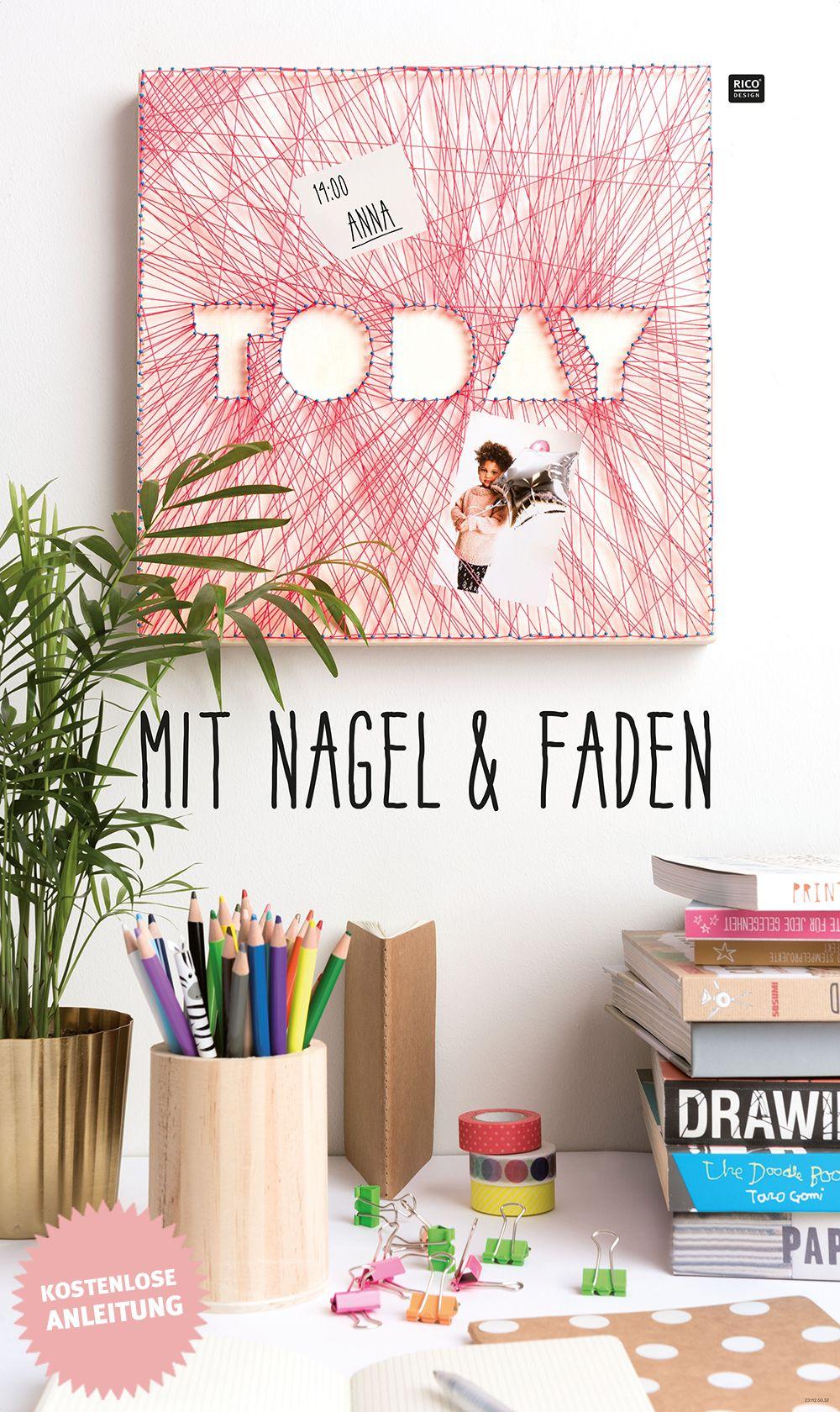 String Art Mit Nagel Und Faden Bilder Spannen Man Nehme Jede