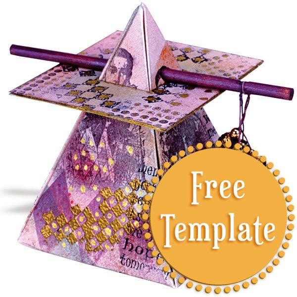 Pyramid Box Template Pyramid Box Box Templates Printable Free Box Template