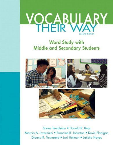 Vocabulary Their Way: Word Study with Middle and Secondary Students (2nd Edition) (Words Their Way Series)